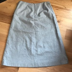 French Connection long gray skirt with back zip